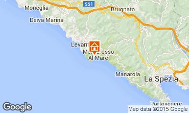 Map Monterosso al Mare Studio apartment 61490