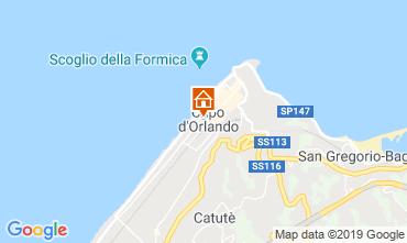 Map Capo d'Orlando Apartment 106132