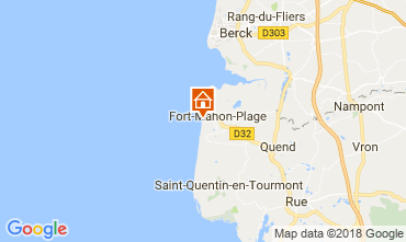Map Fort Mahon Apartment 114689