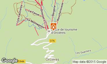 Map Orcières Merlette Studio apartment 50477