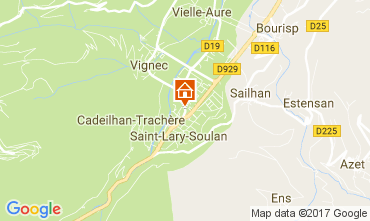 Map Saint Lary Soulan Apartment 110661