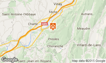 Map Villard de Lans - Corrençon en Vercors Chalet 52709