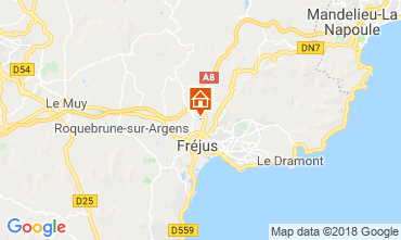 Map Fréjus Mobile home 116061