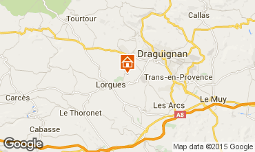 Map Lorgues Self-catering property 92968