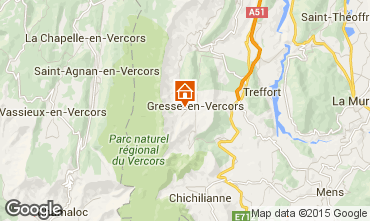 Map Gresse en Vercors Self-catering property 66151