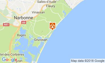 Map Gruissan Bungalow 115166