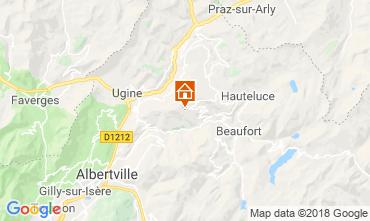 Map Les Saisies Apartment 116762