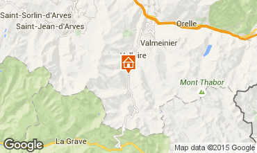 Map Valloire Apartment 50293