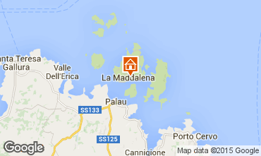 Map La Maddalena Studio apartment 89150