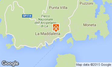Map La Maddalena Studio apartment 89150