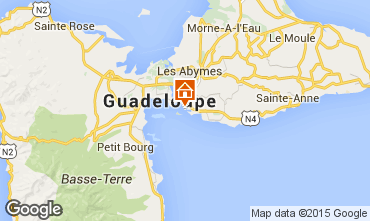 Map Gosier (Guadeloupe) Studio apartment 8004
