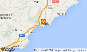 Map Calpe Villa 75907