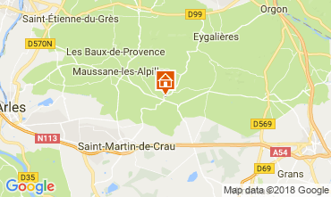Map Les Baux de Provence Self-catering property 113913