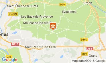 Map Les Baux de Provence Self-catering property 113913