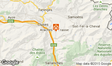 Map Les Carroz d'Araches Studio apartment 28096