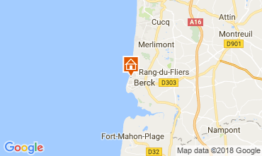 Map Berck-Plage Apartment 104564