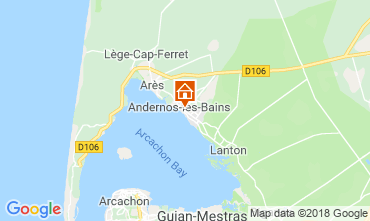 Map Andernos les Bains Self-catering property 116644