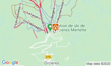 Map Orcières Merlette Apartment 92381