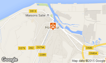 Map Honfleur Self-catering property 59120