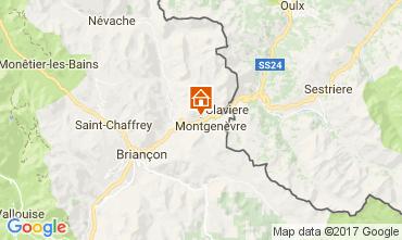 Map Montgenevre Apartment 60120