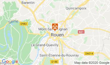 Map Rouen Studio apartment 118116