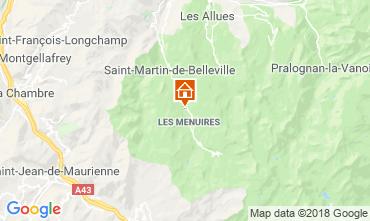 Map Les Menuires Chalet 116653