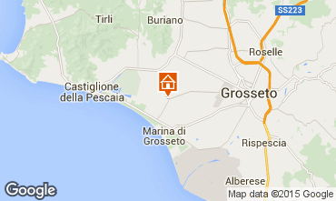 Map Grosseto Self-catering property 72193