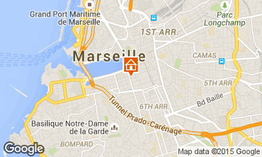 Map Marseille Studio apartment 5953