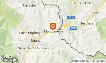 Map Montgenevre Chalet 77618
