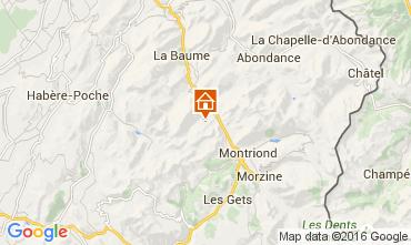 Map Saint Jean d'Aulps- La Grande Terche Apartment 42351