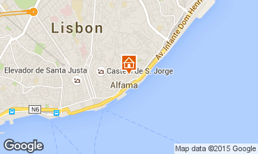 Map Lisbon Apartment 26404