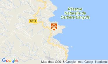 Map Cerbère Apartment 105074