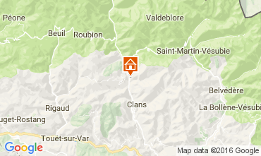 Map Valberg Self-catering property 13264