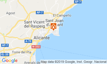Map Alicante Apartment 118634
