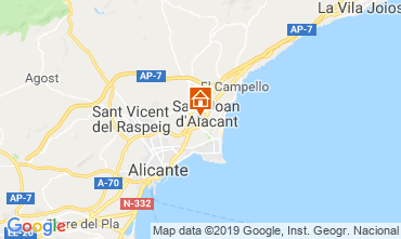 Map Alicante Apartment 117974