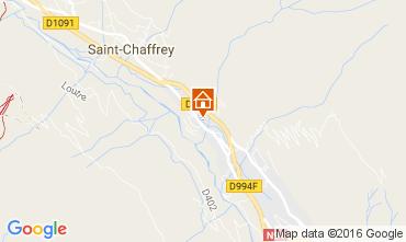 Map Serre Chevalier Chalet 106972