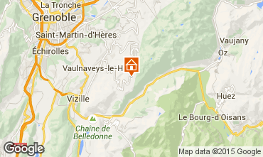 Map Chamrousse Apartment 60559