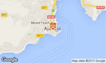 Map Ajaccio Apartment 73148