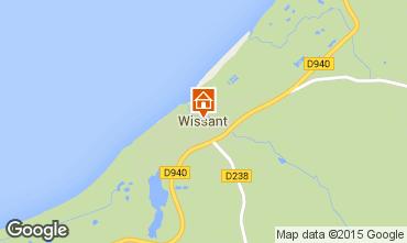 Map Wissant Studio apartment 54880