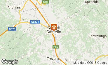 Map Città di Castello Apartment 74064