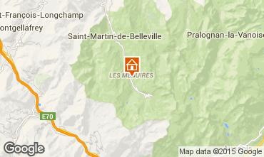 Map Les Menuires Studio apartment 14977