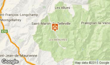 Map Les Menuires Chalet 1767