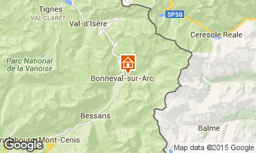 Map Bonneval sur Arc Apartment 73296