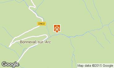 Map Bonneval sur Arc Apartment 73296