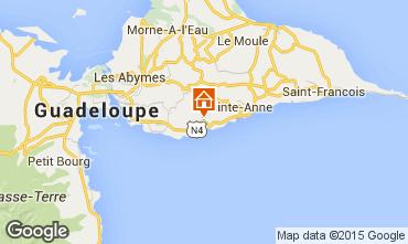 Map Gosier (Guadeloupe) Offbeat B&B 93210
