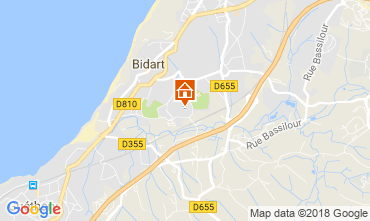 Map Bidart Studio apartment 115678