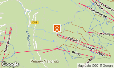 Map Peisey-Vallandry Apartment 28048