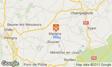 Map Clairvaux-les-Lacs Self-catering property 97963