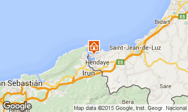Map Hendaye One-room studio flat 98932