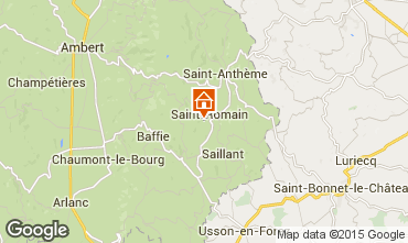 Map Saint-Anthème Self-catering property 85778